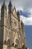 Détail de la façade de cathédrale d'Orvieto photos stock