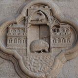 Détail de la façade de la cathédrale à Amiens Photos libres de droits
