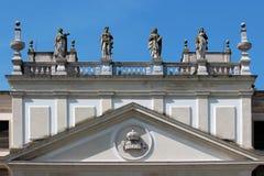 Détail de la façade des écuries hors d'usage de la villa Pisani, Italie photos libres de droits