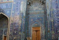 Détail de la façade du mausolée où son épouse est Amir Temur enterré - Qutlugh Oko Photos libres de droits