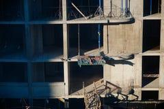Détail de la façade un bâtiment dans la construction Photographie stock libre de droits