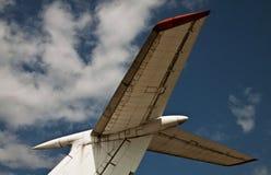 Détail de la fin d'avion à réaction désuète Photos libres de droits
