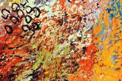 Détail de la peinture à l'huile impressionniste sur la toile images libres de droits