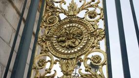 Détail de la porte en bronze - jardin de Tuileries image stock