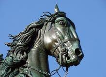 Détail de la statue équestre de Philip IV à Madrid, Espagne image stock