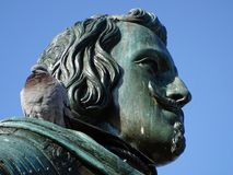 Détail de la statue équestre de Philip IV à Madrid, Espagne photographie stock