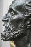 Détail de la statue d'Auguste Rodin de Jules Dalou photo libre de droits