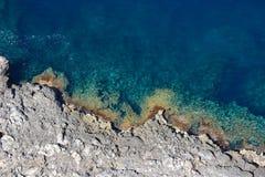 Détail de littoral de Formentor de chapeau image libre de droits