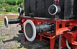 Détail de locomotive à vapeur Photo stock