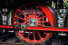 Détail de locomotive à vapeur, dép40t Luzna u Rakovnika Image libre de droits
