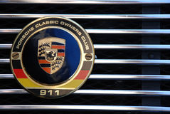 Détail de logo de Porsche 911 Photos stock