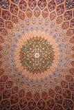 Détail de médaillon de couverture persane Images libres de droits