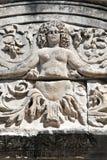 Détail de méduse du temple de Hadrian, Ephesus Photographie stock