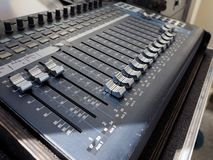 Détail de mélangeur d'abat-voix image stock