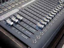 Détail de mélangeur d'abat-voix photographie stock