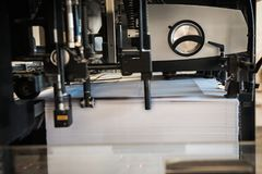 Détail de machine d'impression de rouleaux en offset Image stock