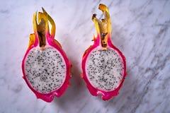 Détail de macro de pitahaya de fruit du dragon de Pitaya Images stock
