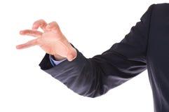 Main de griffe d'homme d'affaires. photo libre de droits