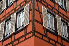 Détail de maison à Strasbourg Photo stock
