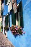 Détail de maison, Burano image libre de droits