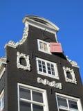 Détail de maison d'Amsterdam Photos libres de droits