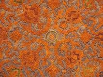 Détail de modèle de décoration de plafond de palais d'Ali Qappu Photos libres de droits