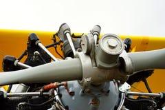 Détail de moteur d'aéronefs d'instruction de vintage Images libres de droits