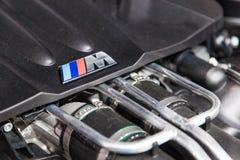 Détail de moteur de série de BMW M à l'IAA 2015 Photo libre de droits