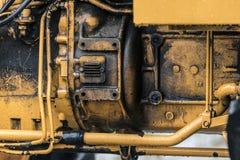 Détail de moteur tracteur Photos libres de droits