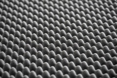 Détail de mousse acoustique dans le studio d'enregistrement Images stock
