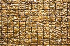 Détail de mur chinois d'or Photographie stock libre de droits