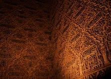 Détail de mur d'Alhambra images libres de droits
