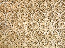 Détail de mur d'Alhambra photo libre de droits