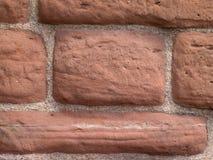 Détail de mur de grès rouge Images libres de droits