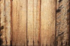Détail de mur en bois de teck Images libres de droits