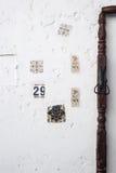 Détail de mur, Kasbah d'Oudaya Images libres de droits