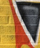 Détail de mur peint par style libre images stock