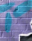 Détail de mur peint par style libre photographie stock libre de droits