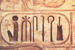 Détail de mur de temple en Egypte Image libre de droits
