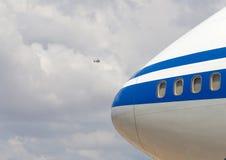 Détail de nez de Boeing 747 Images libres de droits