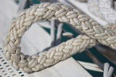 Détail de noeud coulant de haussière Photos libres de droits