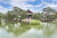 Détail de pagoda d'héritage au palais de Gyeongbokgung images libres de droits