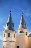 Détail de palais de l'Alcazar De Ségovie, forteresse antique célèbre, Ségovie, Espagne Images stock