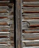 Détail de panneau de mur de carlingue de rondin images stock