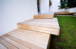 Détail de paquet extérieur bois-lambrissé Photo libre de droits