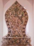 Détail de pavillion de temple thaïlandais, Songkhla Image libre de droits