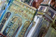 Détail de peinture - travaux en cours Photos stock
