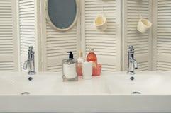 Détail de pièce de bain photo stock