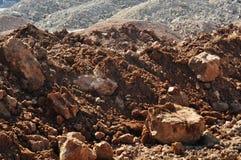Détail de pierre brune Image stock