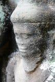 Détail de pierre découpant près d'Angkor Vat, Cambodge Image stock